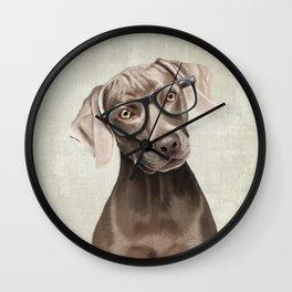 Mr Weimaraner Wall Clock