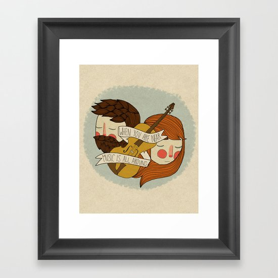 Music Is All Around Framed Art Print