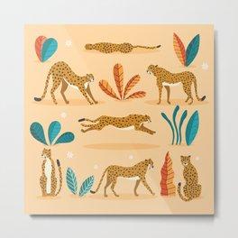 Cheetahs beige Metal Print
