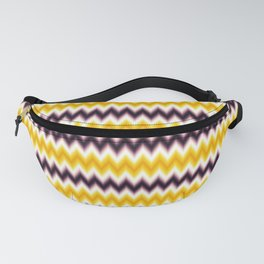 Chevron/Zigzagging Gradual Yellow & Dark Purple Color Fanny Pack