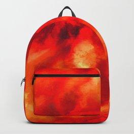 Orange Red Backpack