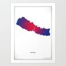 Help Nepal  Art Print