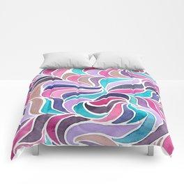 Currents - Aqua Rose Comforters