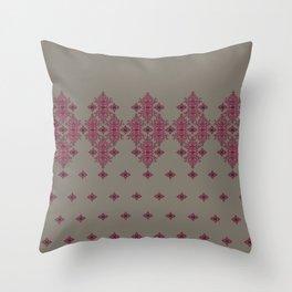 Scrollwork on Gray Throw Pillow