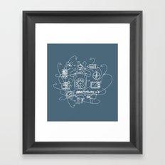 Smartphone 70's Framed Art Print