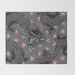 Hidden Dragon / Oriental dragon design Throw Blanket