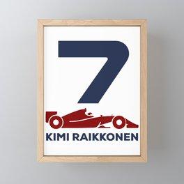 Kimi Raikkonen Framed Mini Art Print
