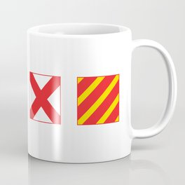 N - A - V - Y Spelled out in Signal Flags Coffee Mug