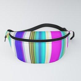 Blues Cerise Mix Summer Stripes Pattern Fanny Pack