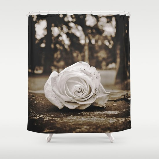 Symbolic rose Shower Curtain