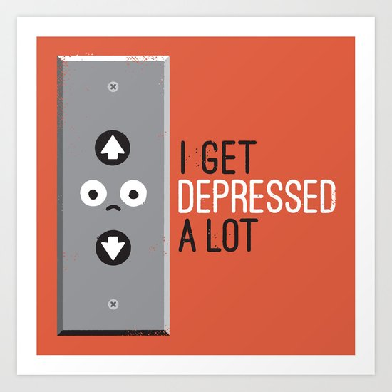 Feeling Down Art Print