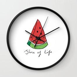 Watermelon - Slice of Life Wall Clock