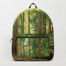 "Ivan Shishkin ""Stream in the Forest (On the Hillside)"" Backpack"