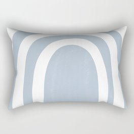 blue rainbow Rectangular Pillow