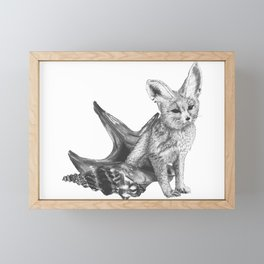 Combinations #4 - Fox / Hermit Crab Framed Mini Art Print