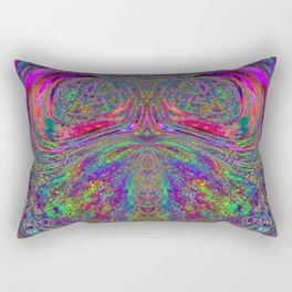 Anyone else see a trippy owl? Rectangular Pillow