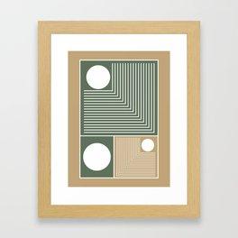 Stylish Geometric Abstract Framed Art Print