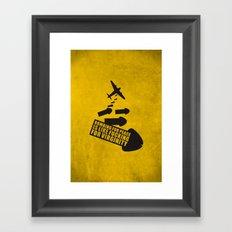 Bombing for peace... Framed Art Print