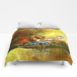 Forest Jewel Chipmunk Comforters