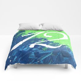 Blue & Green, 12, No. 3 Comforters