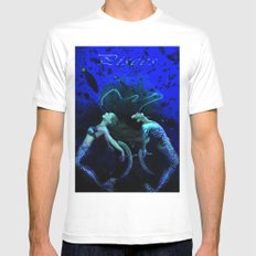 Pisces Mens Fitted Tee MEDIUM White