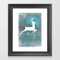 Over The Moon Framed Art Print