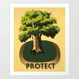 Protect greenery Art Print