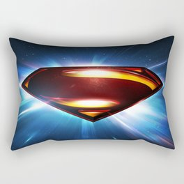 Man of Steel Logo Rectangular Pillow