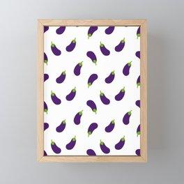 EGGPLANT AUBERGINE VEGGIE FOOD PATTERN Framed Mini Art Print