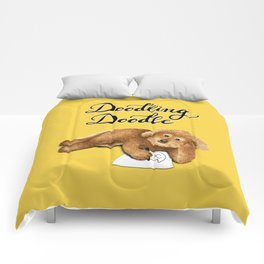 Doodling Doodle (Yellow) Comforters