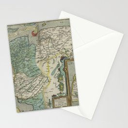 Vintage Map - Ortelius: Theatrum Orbis Terrarum (1606) - West Friesland; Ancient Frisia Stationery Cards