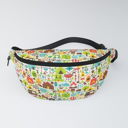 Hiking Patterns | Wanderlust Camping Nature Fanny Pack