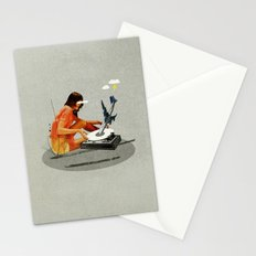 Blind, deaf too | Collage Stationery Cards