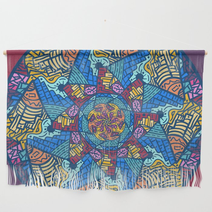 Mountain abstract mandala Wall Hanging