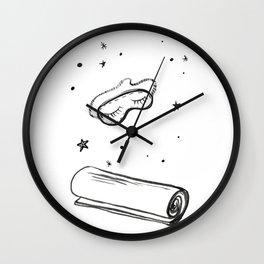 Eye Mask & Yoga Mat [Shut Up & Yoga] Wall Clock