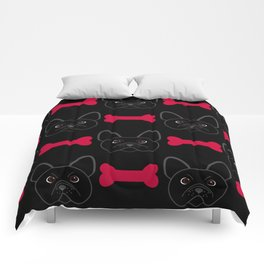 Bulldog Red Comforters
