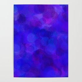 Ultramarine Blue with Purple Pattern Poster