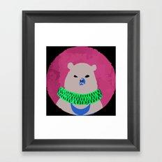 CIRCUS BEAR Framed Art Print
