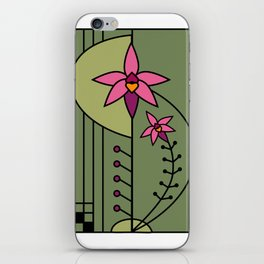 Art Deco Native Orchid iPhone Skin