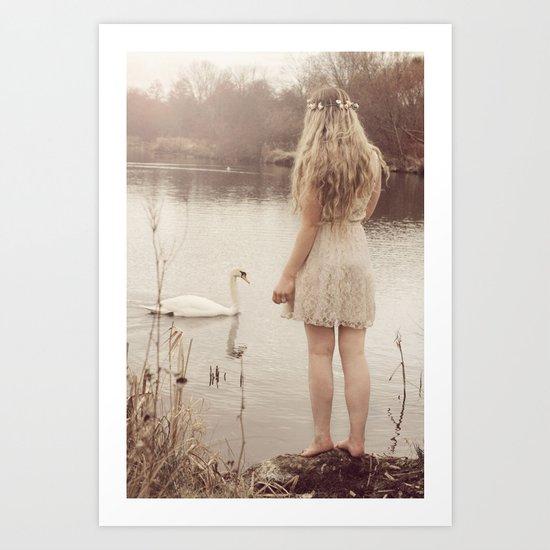 The swan fairy Art Print
