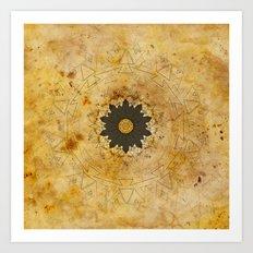 Ebony Sun Mandala Art Print