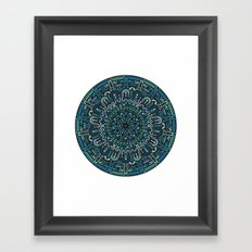 Winter Mandala Framed Art Print