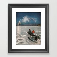 Ride Towards The Lightning Framed Art Print
