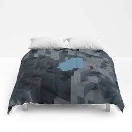Abstract Concrete II Comforters