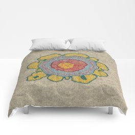 Growing - Pinus 1 - plant cell embroidery Comforters