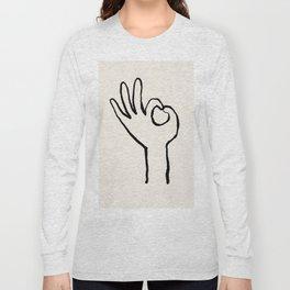 OK hand Long Sleeve T-shirt