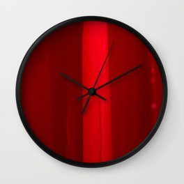 The Red Veil Wall Clock