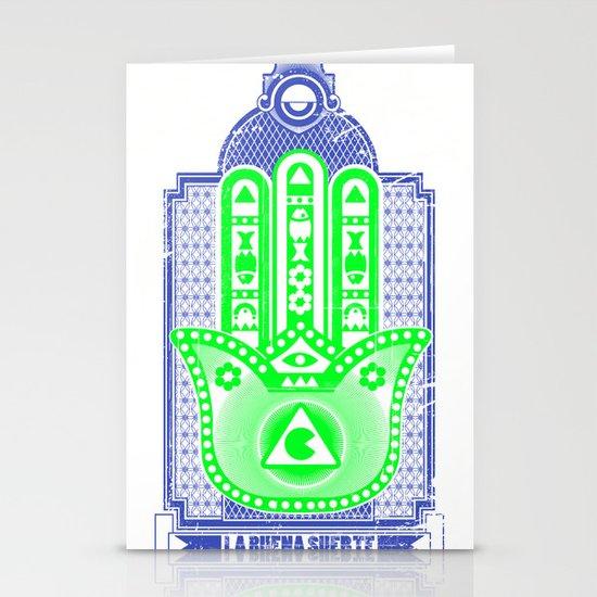 la buena suerte Stationery Cards