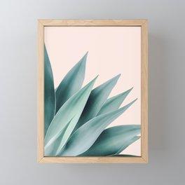 Agave flare II - peach Framed Mini Art Print