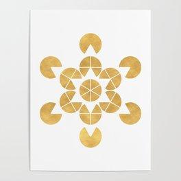STAR TETRAHEDRON MERKABA sacred geometry Poster